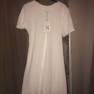 Sabo Skirt Dresses - White Sabo wrap dress